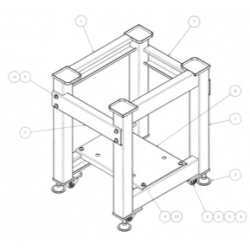 NR110200 CHASSIS METALLIQUE...