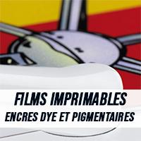 Films imprimables pour encres dye et pigmentaires